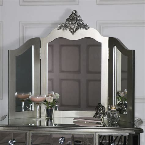 ornate triple dressing table mirror tiffany range melody maison