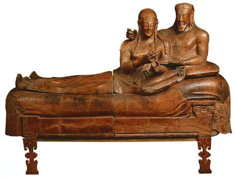 sarcophagus with reclining couple art history etruscan art women