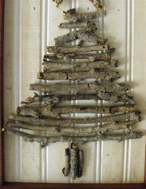 at home with k haul out the holly christmas tree twig art