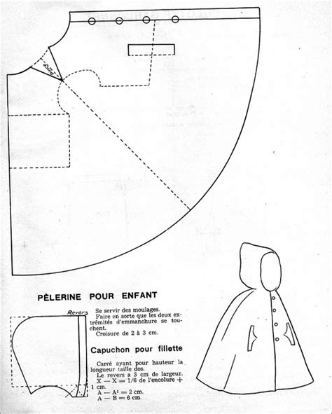 free pattern hooded cape flickr photo sharing