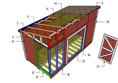 Shed Plans 8 X 16 by 8x16 Lean To Shed Roof Plans Myoutdoorplans Free