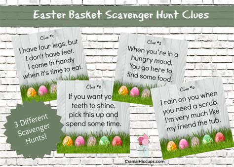 easter scavenger hunt easter archives cranial hiccups
