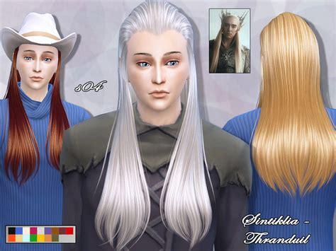 long hair for guys sims 4 cc sintikliasims sintiklia hair s04 thranduil