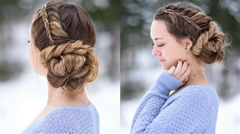 cute updo hairstyles stacked fishtail updo prom hairstyle cute girls