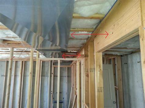 framing around heating duct doityourself community