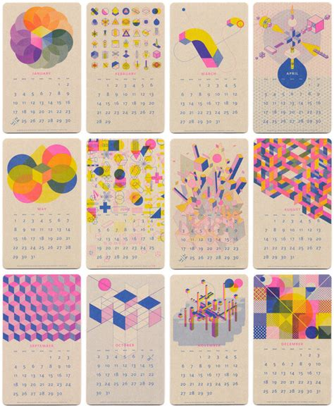calendar design sles 2016 22 modern calendars for 2016 design milk