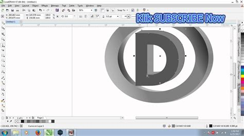 tutorial corel draw x7 membuat logo pdf cara membuat logo 3d coreldraw x7 tutorial youtube