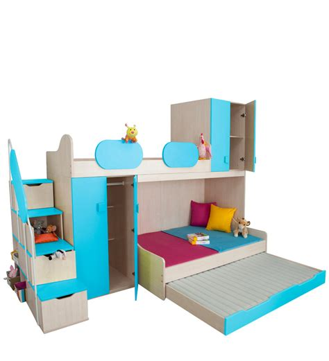 play beds play bunk bed in blue maple finish by alex daisy by alex