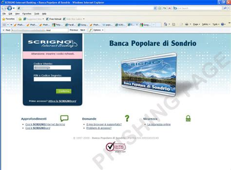popolare di sondrio scrigno card phishing scam targets italian bank trendlabs security
