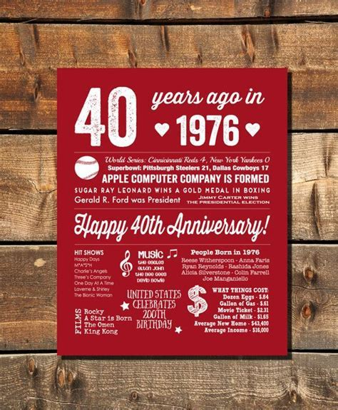 40th Anniversary Party, 40th Anniversary Decoration, 40th