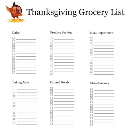 thanksgiving shopping list template 1000 images about thanksgiving on