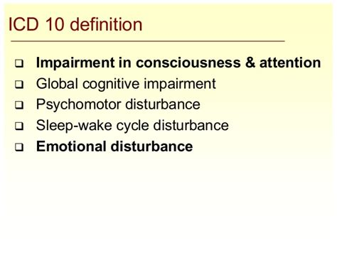 sleep pattern disturbance meaning overview of confusion delirium for clinicians july 2007