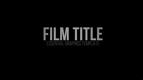 Rant Film Title Essential Graphics Template For Premiere Pro Youtube Essential Graphics Templates