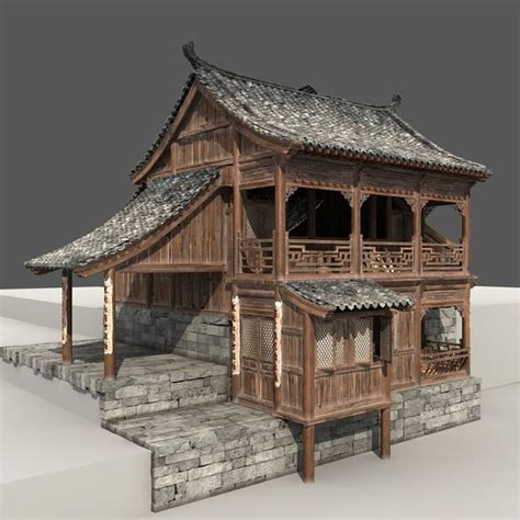 chinese house 3d computer rendering of an old chinese house more views