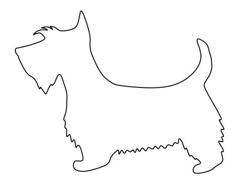 scottie dog pattern use the printable outline for crafts