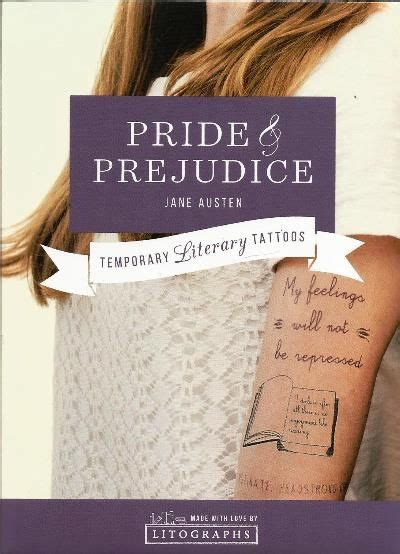 pride and prejudice tattoos pride prejudice temporary set