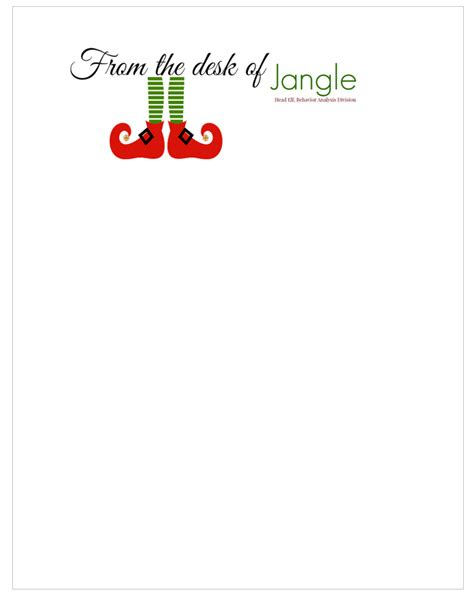 elf on the shelf blank printable letter free printable letters from santa his elves the shady lane