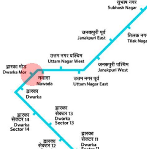 Dwarka Mor station map - Delhi Metro