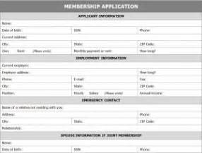 membership application form template word templates