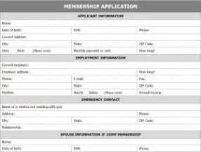 membership form template doc membership application form template word templates