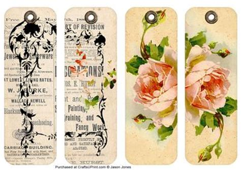 printable bookmarks vintage 5 best images of vintage floral printable bookmarks free