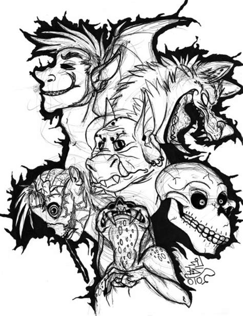 Coloring Pages Of Scary Monsters