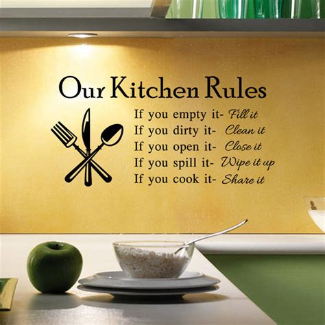 home decor decals home decor saying kitchen wall sticker vinyl