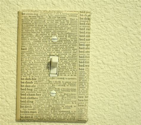 easy mod podge light switch cover tutorial