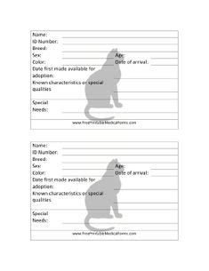 cat adoption event cage card template 1000 images about vet papers on veterinarians