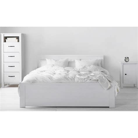 ikea brusali white bed frame 150 200cm furniture beds