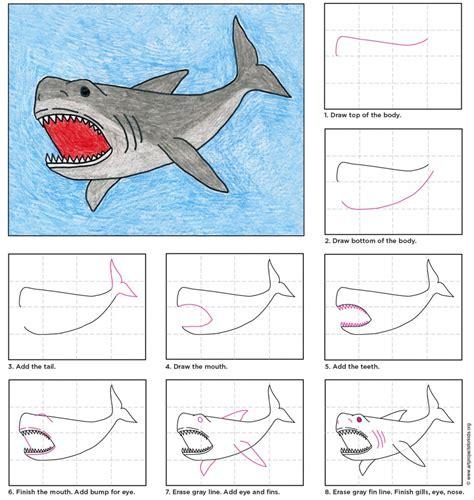 how to draw a doodle shark megalodon shark post 969x1024 škola