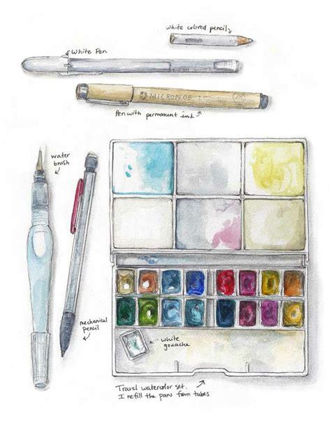 sketchbook kit watercolor travel kit sketch kit journaling