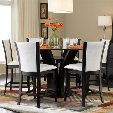 glass counter height dining table homelegance 710 7 counter height glass top dining