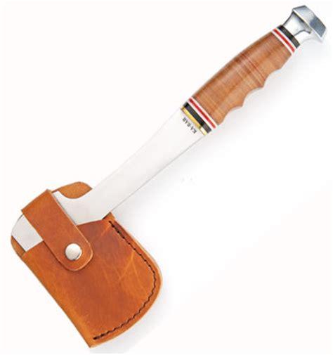 kabar hatchet ka bar 1331 leather handle hatchet 3cr13 steel