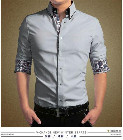 Kemeja Batik Slim Fit Terbaru Kemeja Pria Slim Fit Terbaru 53 baju kemeja pria lengan panjang slim fit keren model terbaru