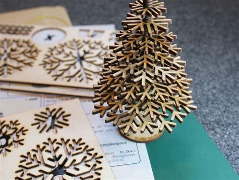 lasercut snowflake christmas tree  vector cdr