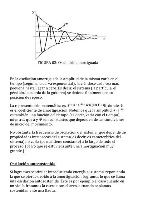 oscilacion autosostenida trabajo y energ 237 a en el movimiento arm 243 nico simple
