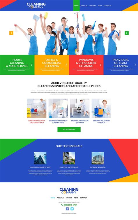 Cleaning Services Wordpress Theme 51991 Theme Template