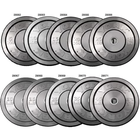 Plate Barbell york barbell rubber bumper olympic plates