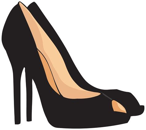 Transparant Shoes Box Penyimpanan Sepatu black heels png clipart best web clipart
