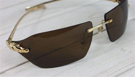 Cartier Jaguar Sunglasses Panth 232 Re De Cartier Rimless T820042527 Gold Sunglasses