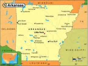 map of united states showing arkansas arkansas big cities map