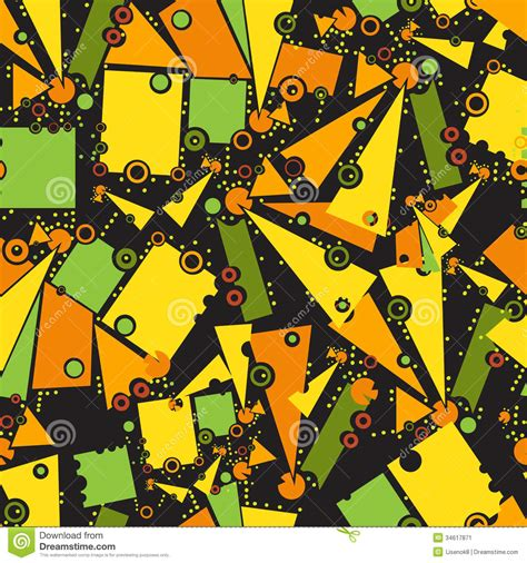 object pattern background pattern with geometric objects stock image image 34617871