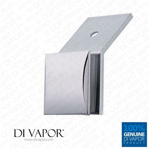 Enigma Electric Dropbolt Glass Fitting Bracket Only 135 degree copper wall to glass cl bracket for shower panel or balustrade 6mm to 10mm glass