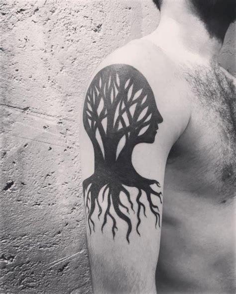 wolf tree tattoo 51 classic tree tattoos for shoulder