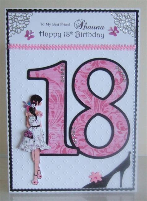 Ideas For 18th Birthday Cards Handmade - 18th birthday age celebration cards