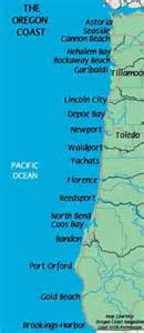 oregon coastal map with towns oregon coast map