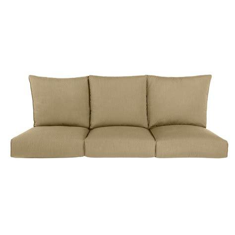 outdoor sofa cushion brown highland replacement outdoor sofa cushion in meadow m10035 sc5 the home depot