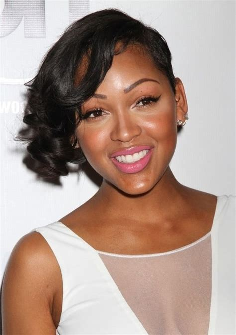 meagan good inspired hairstyle on short natural hair meagan good hairstyles short curly asymmetric hairstyle