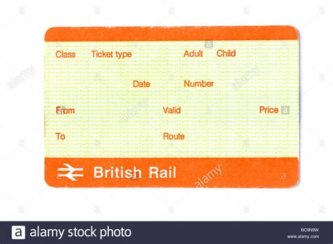 blank british train ticket stock photo royalty free image